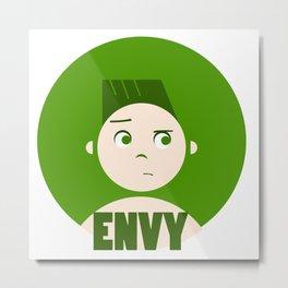 Envy - 7 deadly cartoon sins  Metal Print