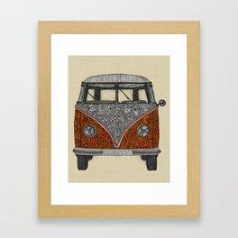 The camper Framed Art Print