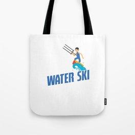 Eat Sleep Water Ski Repeat Water Skiing Skier Tote Bag