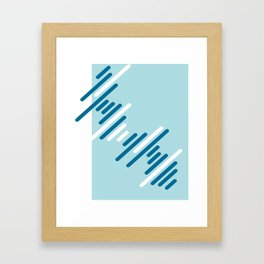 Blue Pattern Framed Art Print