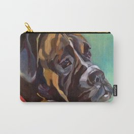 Boxer Dog Keeley Pet Portrait Carry-All Pouch