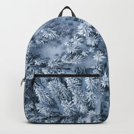 Winter Pine Forest Backpack