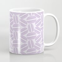 macaroon Mugs featuring French Pattern - Violet Macaron - Purple Macaroon by French Macaron Art Print and Decor Store