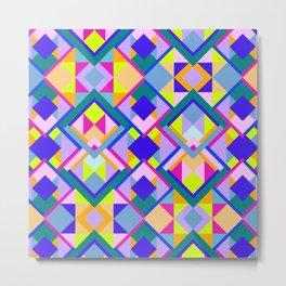 Colourful Geometric Patterns Metal Print