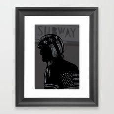 Strap Hanger Framed Art Print
