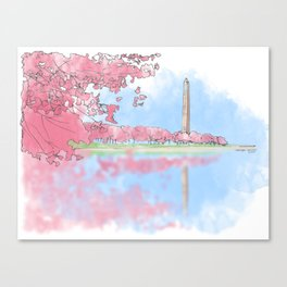 Cherry Blossom - Washington Monument Canvas Print