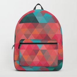 Abstract Geometric Pattern colorful triangles abstract art Backpack