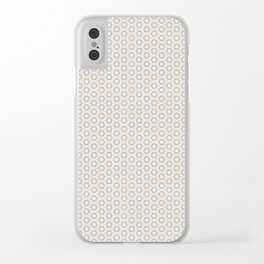Hexagon Light Gray Pattern Clear iPhone Case