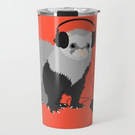 Music Loving Ferret Travel Mug