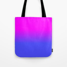 Neon Blue and Hot Pink Ombré Shade Color Fade Tote Bag