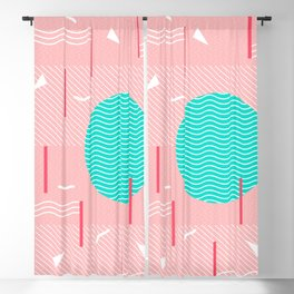 Memphis Summer Splash Blackout Curtain