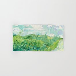 Green Wheat Fields - Auvers, by Vincent van Gogh Hand & Bath Towel