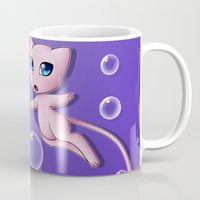 mew Mugs featuring Mew Bubbles by AngelAito