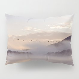 Into the Mists of Dawn: Sunrise on Lake George Pillow Sham