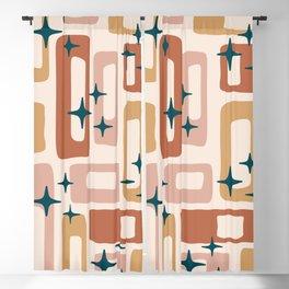 Retro Mid Century Modern Abstract Pattern 125 Blackout Curtain
