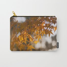 Autumnlights - Gold marple leaves at sparkling backlight Carry-All Pouch