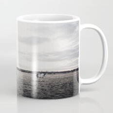 Horses in a Field in Black and White Mug
