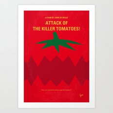 No499 My Attack of the Killer Tomatoes minimal movie poster Art Print
