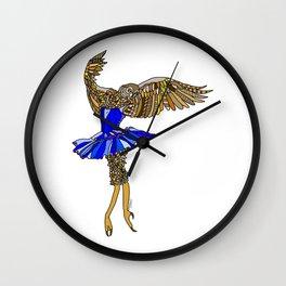 Owl Ballerina Tutu Wall Clock