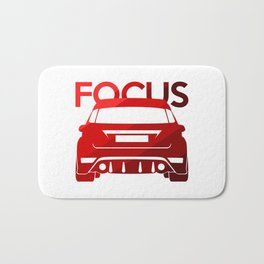 Ford Focus RS - classic red - Bath Mat