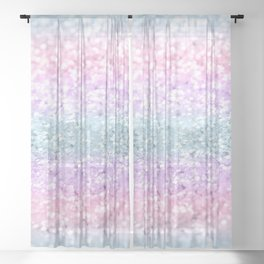 Unicorn Girls Glitter #11 #shiny #pastel #decor #art #society6 Sheer Curtain