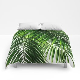 Palm Leaves #3 Comforters