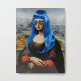 Millennial Mona (with the blue hair) Metal Print