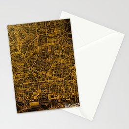 Washington West Columbia map year 1945 Stationery Cards