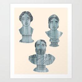 Busts Mania Art Print
