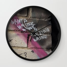 Hare Row - What A Waster Wall Clock