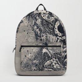 Wolf, Geometric, Illustration, Wild, Boho Art Backpack