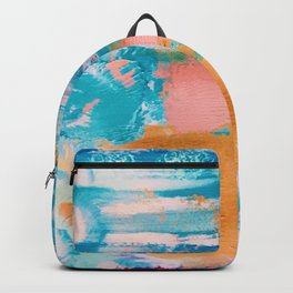 Bluebird of Happiness Abstract Painting Backpack