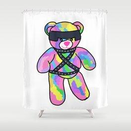 Rainbow Bondage Bear Shower Curtain