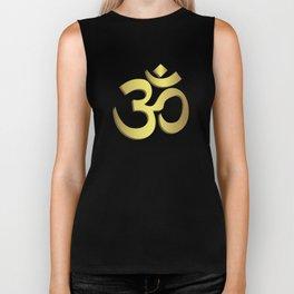 Om ( Aum ) Namaste yoga symbol Biker Tank