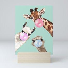 Bubble Gum Gang in Green Mini Art Print