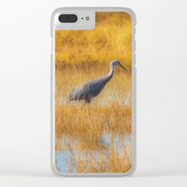 Sandhill Cranes in Fall Clear iPhone Case