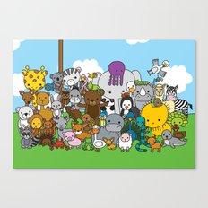 Zoe animals Canvas Print