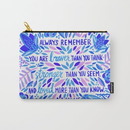 Always Remember – Indigo Palette Carry-All Pouch