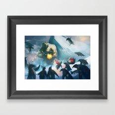 polar bear boss Framed Art Print