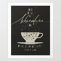 literary Art Prints featuring Peter Pan Literary Quote by Lucky Skye