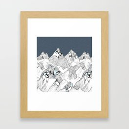 At night in the mountains Framed Art Print