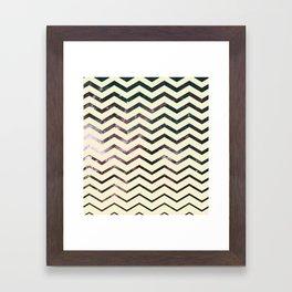 Cosmic Zag Framed Art Print