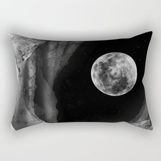Between two moons Rectangular Pillow