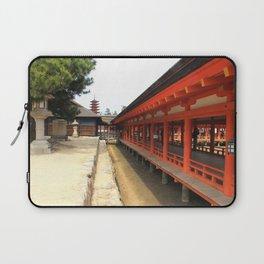 Shrines and Pagodas Laptop Sleeve