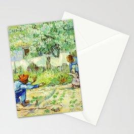First Steps, after Millet (1890) by Vincent Van Gogh Stationery Cards