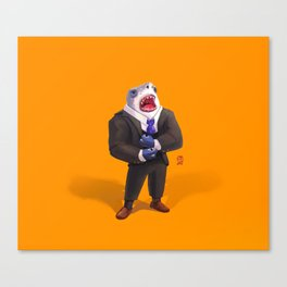 Shark in Suit Canvas Print
