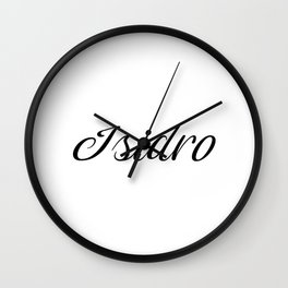 Name Isidro Wall Clock