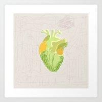 vegi heart Art Print
