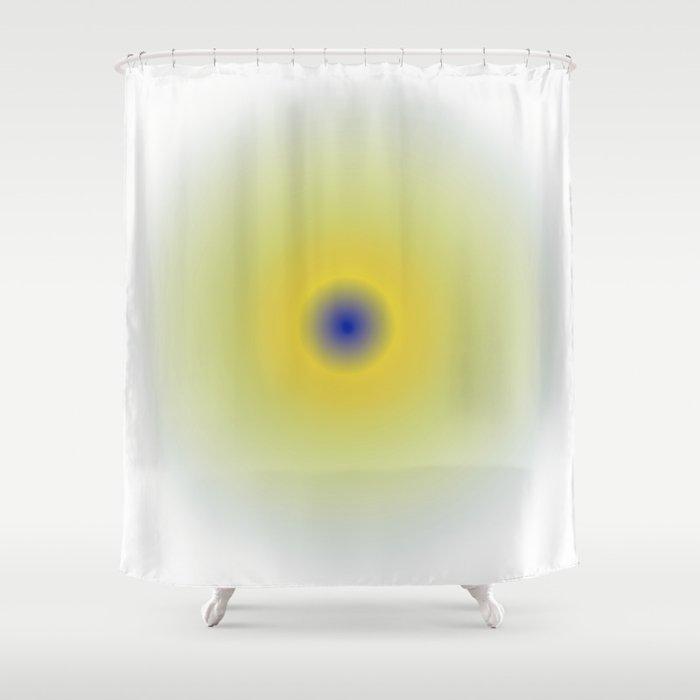 Yellow sphere Shower Curtain