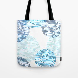 Denim Discoid Tote Bag